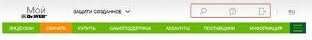 #Dr.Web screen: Функциональные виджеты